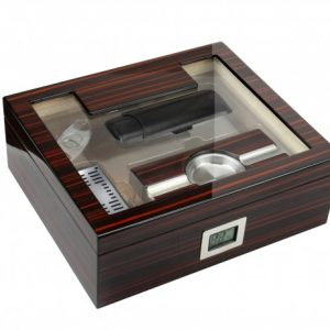KENSINGTON CHERRY EBONY 75 CT HUMIDOR