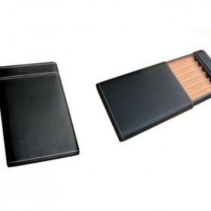 BLACK 6 CIGAR SLIDING CASE